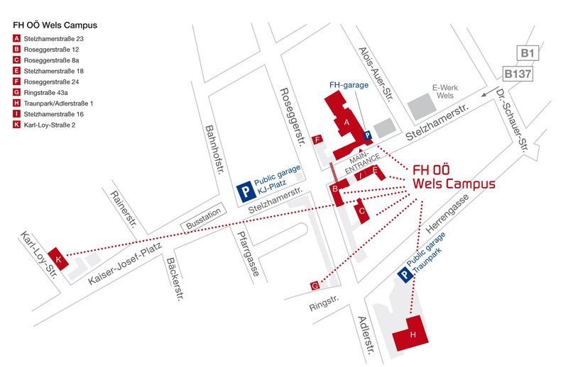 Campus Map Wels Campus Fh Ooe